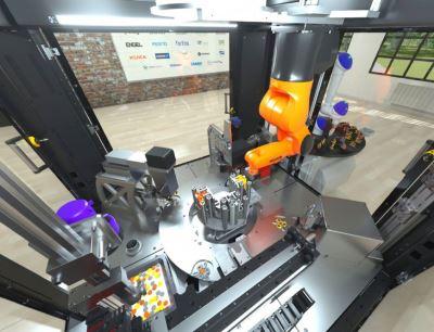 Eines der Highlights des interaktiven Programms der Automatica Sprint: Der virtuelle VDMA R+A OPC UA Demonstrator