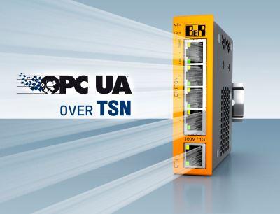B&R erweitert sein Portfolio um einen TSN-Maschinenswitch