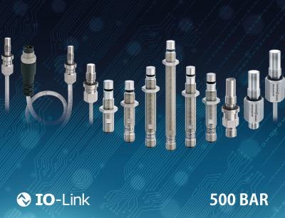 Robuste Induktivsensoren mit IO-Link für den Industrie 4.0-Einsatz halten Spitzendrücken bis zu 1.000 bar stand
