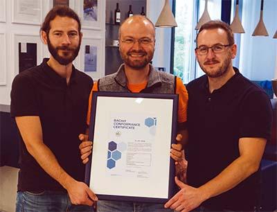 Copa-Data Projektteam Helmut Weber, Markus Wintersteller und Lewis Williams