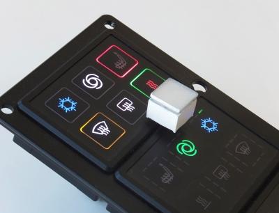 Auf der Electronica zeigt Griessbach seine zum Patent angemeldete Hall-Sensorik sowie neue Beleuchtungsoptionen für Kurzhubtaster