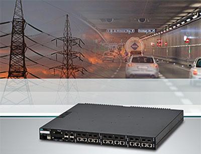 IEEE 1588 Ethernet Switch mit hoher Portdichte vereinfacht Migration auf Glasfaser