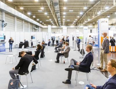 Die Talk-Lounge-Area in Essen war zentrale Anlaufstelle für Vorträge und Präsentationen