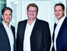 Das Geschäftsführer-Trio von Copa-Data
