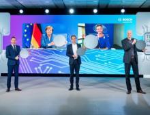 Feierliche Eröffnung des 300-Millimeter-Halbleiterwerks in Dresden