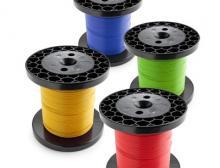 EVG bietet diverse Litzen-Typen in 100 m und 300 m auf Kleinspulen