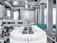 Pro Tag produziert eine Maschine der Pelzgroup durchschnittlich 50.000 Verpackungseinheiten