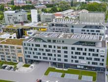 Der neue Firmensitz von Wibu-Systems - energieeffizient und zusammen mit dem benachbarten House of IT-Security ein starkes Zeichen für den IT-Standort Karlsruhe