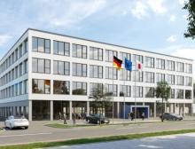 Yaskawa baut in Hattersheim bei Frankfurt/Main eine neue Unternehmenszentrale für Europa. Die Einweihung ist für Ende 2022 geplant